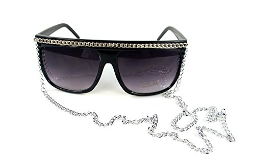 Snooki Costumes (Snooki Silver Chain Sunglasses Lady Glasses Jersey Shore)