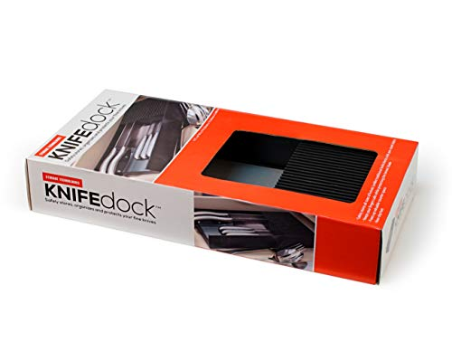 Plastic KNIFEdock - In-Drawer Knife Storage for your kitchen. Replace your knife block with a revolutionary product. Clear your counter top of clutter, and easily identify the desired knife. KNIFEdock by Knife Dock (Image #3)