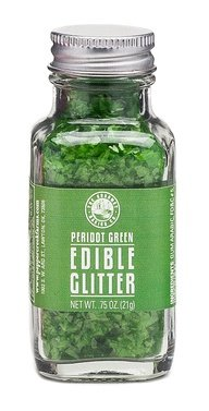 The Gourmet Baking Company Peridot Green Edible Glitter .75oz Jar