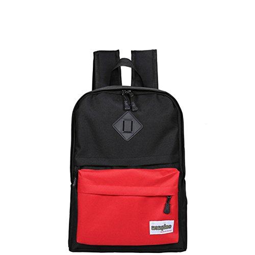 Bolsas de la escuela/Color costura mochila de gran capacidad/Mochila casual salvaje-C A