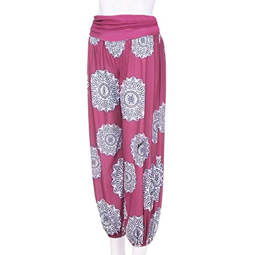 kz7 Pantaloni Donna Pantalone Mambain Da Hot Rosa baggy Zuava Stampa 0BdqdPRwT6