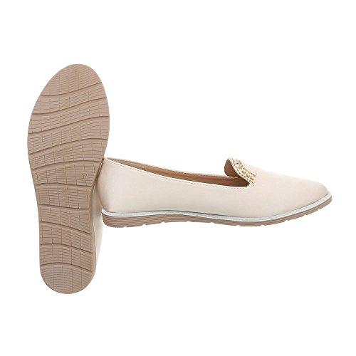 Størrelse Kvinners Uk 6 Beige Ital Loafers utforming qw8U8gR