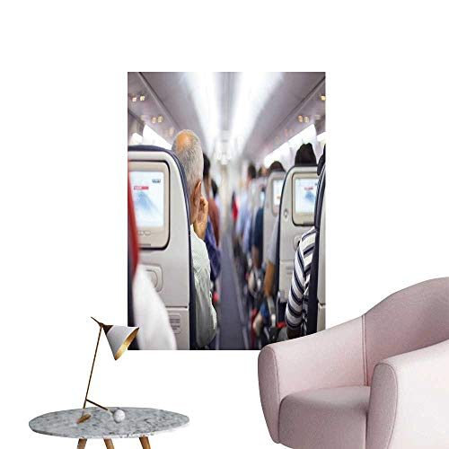 SeptSonne Vinyl Wall Stickers Interior ir Passengers on Seats Wait to taik Off Perfectly Decorated,20