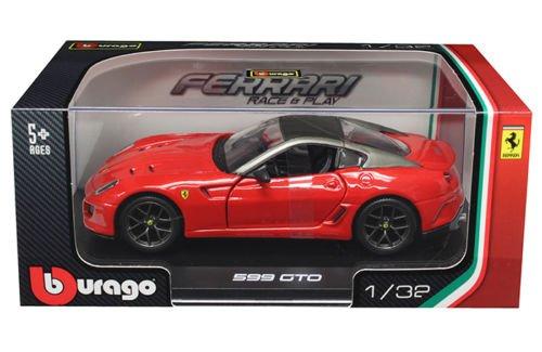 NEW 1:43 W/B BBURAGO COLLECTION - FERRARI RACE & PLAY RED FERRARI 599 GTO Diecast Model Car By Bburago