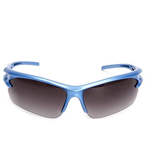 Lunettes Moto Plein de 12cm Lunettes Course Protection en UV Bleu de pour Xuniu Air Cyclisme Bleu Soleil Motocycle Sport 1dwqP6d