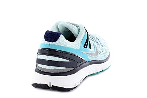 Nike Womens Lunareclipse + 3 In Fibra Di Vetro Riflettono Argento Annerito Blu 555398 304