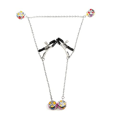 YABINA 1 Pair Nipple Clamps Clips Jewellery Bust Massager Stimulate Sex Toy Flirt Adult Products (Sex Toys)