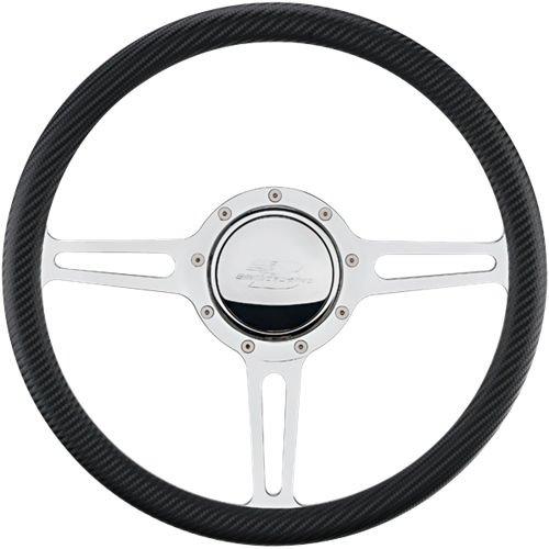 1/2 Steering Wheels - Billet Specialties 30137 Steering Wheel (1/2 Wrap14in Split Spoke)
