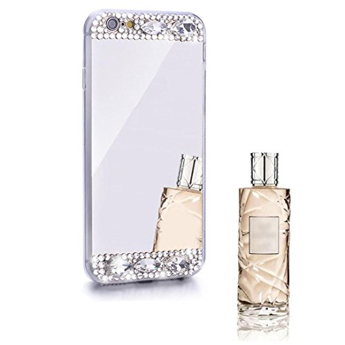 Slippers Adult Shoe Covers (For iPhone 6/6S Plus 5.5inch Sunfei ®Bling Diamond Mirror Back TPU Soft Case Cover (Silver))