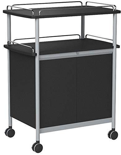 Beverage Service Cart - Safco Products 8964BL Mobile Beverage Cart, Black