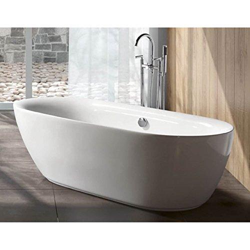 Kingston Brass Modern Double Ended 67-inch Freestanding Acrylic Bathtub (Acrylic Double Ended Bathtub)