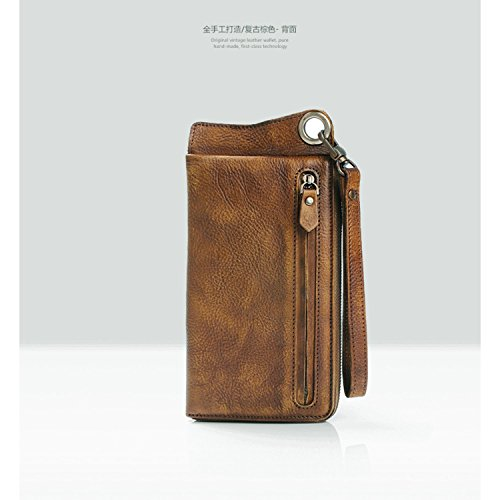 New Wallet 2017 Leather Fashion Brown New Fashion Genuine Genuine 2017 Wallet Men Men Leather atxnw74vqX