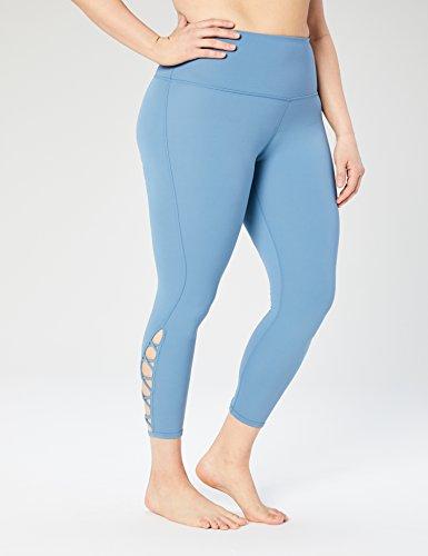 Core 10 Womens High Waist Yoga Lattice 7/8 Crop Legging - 24 (XS-XL, Plus Size 1X-3X)