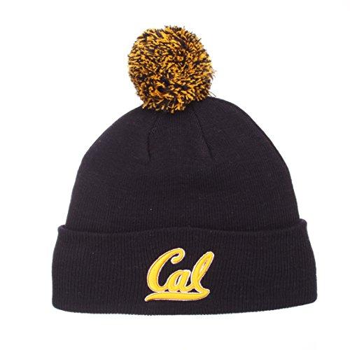ZHATS Cal Berkeley Golden Bears Blue Cuff Beanie Hat with Pom POM - NCAA Cuffed Winter Knit Toque Cap