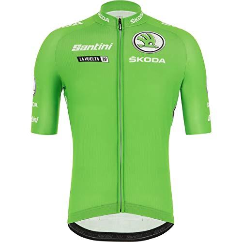 (Santini La Vuelta Leader Best Sprinter Short-Sleeve Jersey - Men's Green, M)
