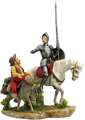 13.75 Inch Don Quixote and Sancho Panza Statue Figurine,
