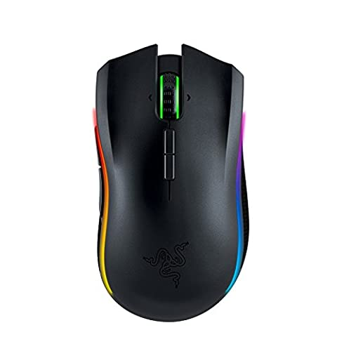 Razer Mamba Professional Grade Chroma 16,000 DPI Sensor Ergonomic Gaming Mouse - eSports Wireless (Certified Refurbished) (Wireless Mouse Sensor)