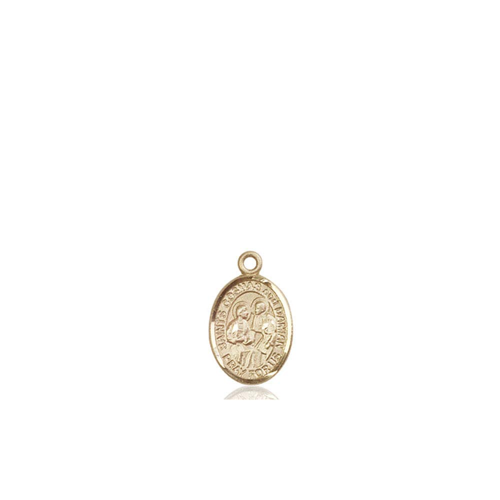 14kt Gold Sts Cosmas /& Damian Medal