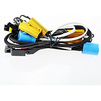 amazon com kensun hid conversion kit single beam relay wiring Eg Wiring Harness ac wiring harness to resistor