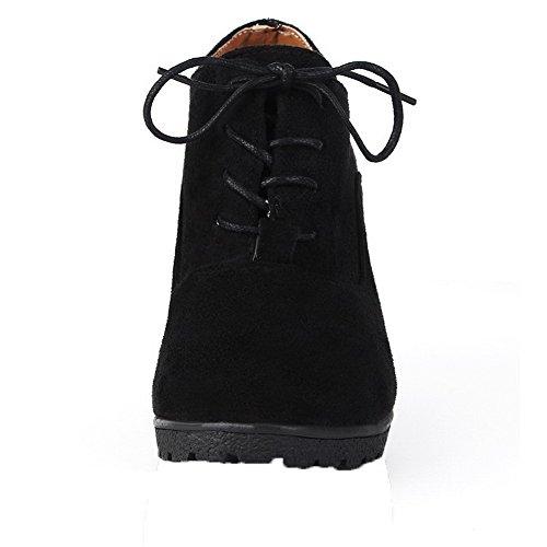 Delle Pompe scarpe Donne Solide up Tacchi Alti Serigrafato Nero Allhqfashion Lace gAp7Uqa