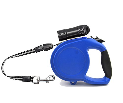 Retractable Leash- 26ft Nylon Durable Heavy Duty Tangle Free Dog Leashes One Button Brake & Lock And...