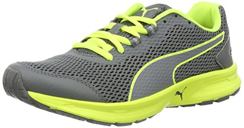 PumaDescendant V4 Wn's - Zapatillas de Entrenamiento Mujer Gris (Quiet Shade-safety Yellow 09)