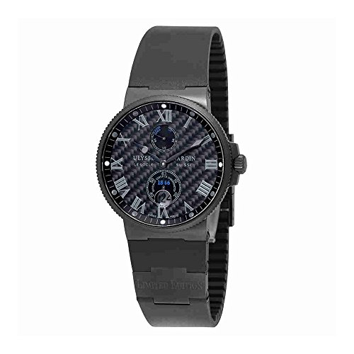 Ulysse-Nardin-Marine-Chronometer-Mens-Swiss-Automatic-Limited-Edition-Watch-263-66LE-3C42-Black