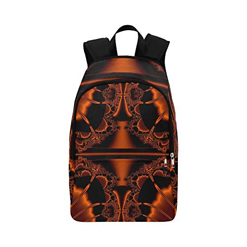 AIKENING Art Fractal Artwork Creative Concept Idea Casual Daypack Travel Bag College School Backpack Mens Women