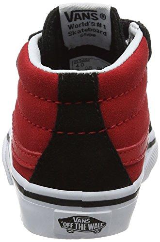 Vans Sk8-Mid Reissue V, Zapatillas de Entrenamiento Unisex Bebé Rojo (Black/racing Red2-tone)