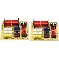 uxcell 2pcs 180W Speaker Audio Frequency Divider 3 Way Crossover Filters