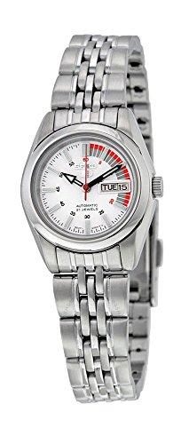 Women's Stainless Steel Seiko 5 Automatic Dress Watch White ()