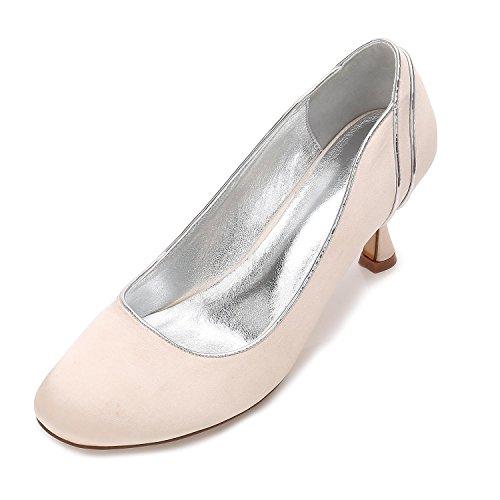 L@YC Womens Wedding D-17061-48 Ladies Bridal High Heel Platform Prom Pumps Court Shoes Size Champagne Zl0gijQ