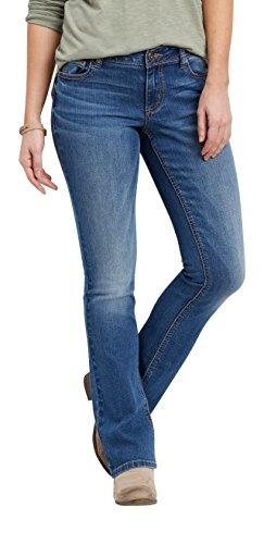maurices Women's Denimflex Medium Wash Slim Boot Jeans 9/10 Medium Sandblast (Womens Boot Jeans Slim)