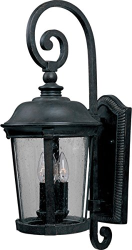 "Maxim 3025 Bronze / Seedy Glass Dover 32"" Tall 3 Light Wall Sconce"
