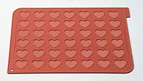 Silikomart Heart Macarons Silicone Mat by Silikomart