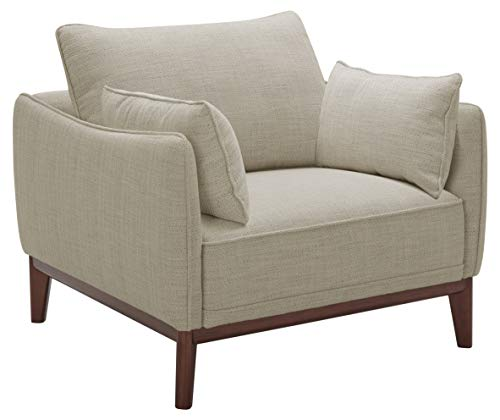 Stone & Beam Hillman Mid-Century Living Room Chair with Tapered Legs and Removable Cushions, 39