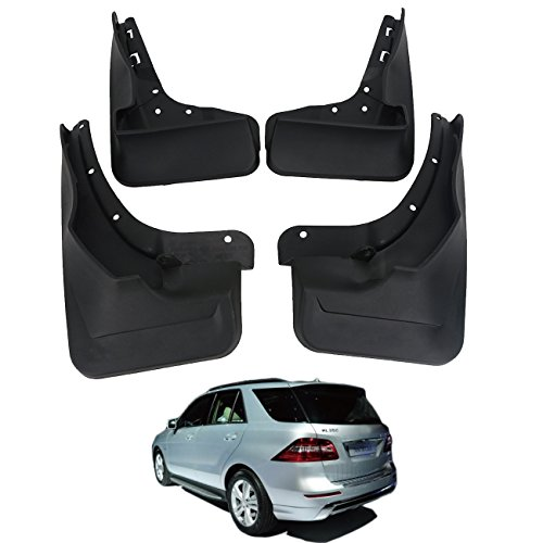 Mud Flaps for Mercedes Benz ML350/400 W166 2012-2017 Front & Rear Molded Splash Guards ()