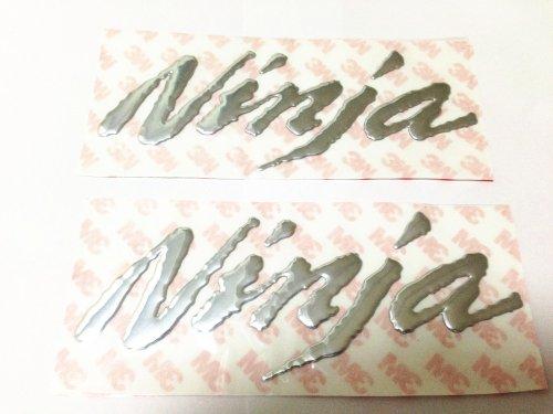 3d Silver Decal Emblem Sticker for Kawasaki Ninja Motorcycles