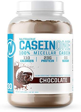 CaseinOne Casein Protein Powder by NutraOne No Sugar and Amino Acid Free Protein Powder Chocolate 2.11 lbs.