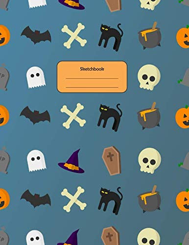 Sketchbook: A Halloween Themed Large Notebook with 100