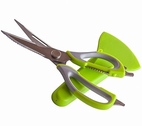 Heavy Duty Kitchen Scissors - For Cutting Poultry, Chicken & All Cooking Uses - Shears Come Apart for Easy Cleaning & Dishwasher Safe - Stainless Steel