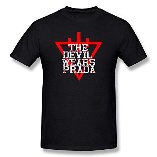 Zelura Men's The Devil Wears Prada Logo T-shirts Black XL (Prada Logo)