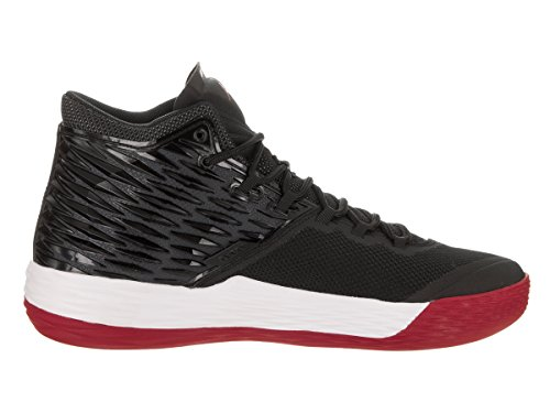 Jordan Nike Mens Melo M13 Basketball Shoe Black/Gym Red-white-anthracite