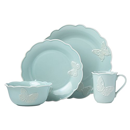 Lenox Butterfly Meadow Carved Blue 4 Piece Place Setting