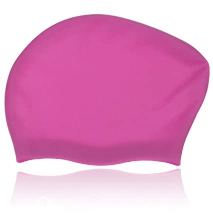 f63da7ecc83 Amazon.com   GoodByeReality! Long Hair Swim Cap Women Swim Cap Extra ...