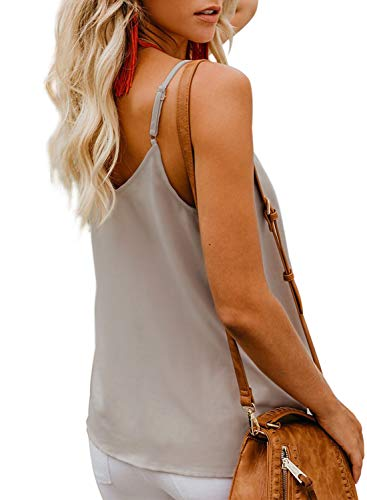 d7734d589de2b BLENCOT Women s Button Down V Neck Strappy Tank Tops Loose Casual  Sleeveless Shirts Blouses