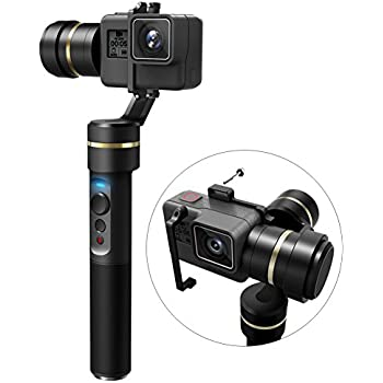 FeiyuTech G5 3-Axis Stabilized Handheld Gimbal for Gopro HERO 5/4/3+/ 3, Yi Cam 4K, AEE Sports Cams, IP67 Waterproof, Anti-Loss Screws, Selfie Ready