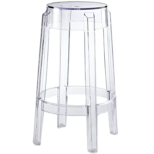 Nicer Furniture ® Philippe Starck Charles Ghost Stool Transparent Counter Height (Canada Stools)