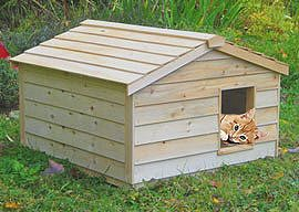 Insulated Extra Large Waterproof Cat House for Outdoor Cats (Insulated Dog House Extra Large)