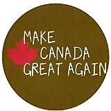 Make Canada Great Again Non-Slip Backing Machine Washable Round Area Rug Foam Mat Living Room Bedroom Study Children Playroom Super Soft Carpet Floor Mat Home Decor 23.6Inch Diameter